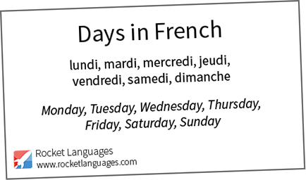 days in french